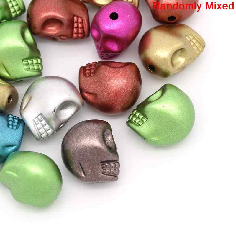 "DoreenBeads Acrylic Spacer Beads Skull Mixed About 13mm( 4/8"") x 11mm( 3/8""), Hole: Approx 1.8mm, 20 PCs"