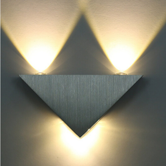 Rising Star 3W Aluminum Triangle Led Wall Lamp 85-265V High Power Wall Light Modern For Home Lighting Indoor Decoration Light