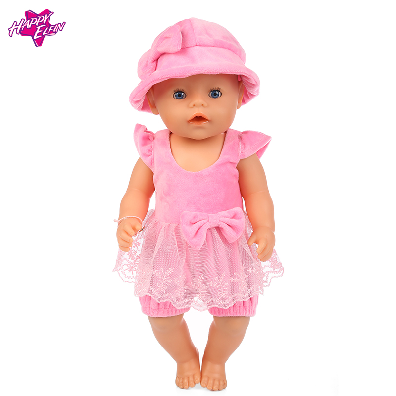 New Arrival Doll Accessories,High quality pink doll dress Doll Clothes For Girls fit 43cm Baby Born zapf, Children best Gift