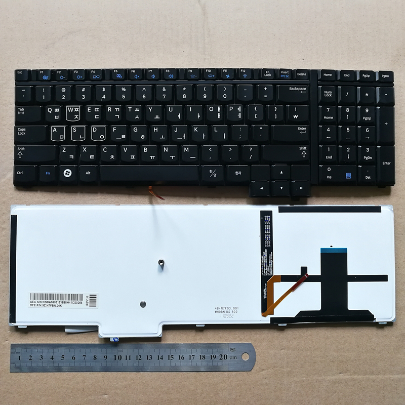 Korean layout new laptop keyboard for samsung 700G7A 700G7C KR BA59-03153B 9Z.N7FBN.00K new laptop keyboard for dell xps 13 9343 9350 9550 backlit uk layout