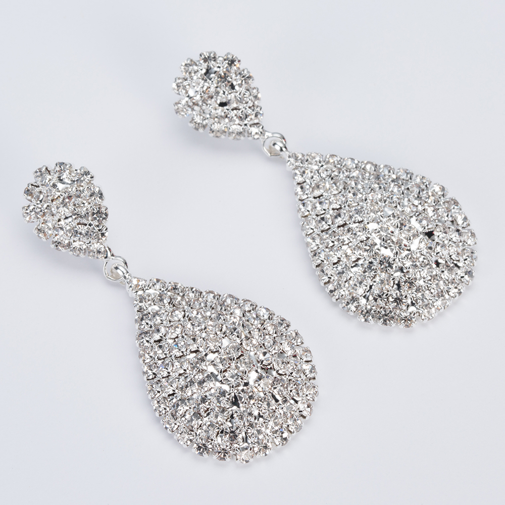 YFJEWE Dangle-Earrings Classic Party Wedding Women Elegant Full-Rhinestone-Long New-Fashion