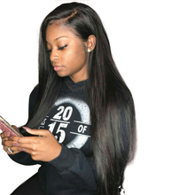 Silky Straight 360 Lace Frontal Wig Pre Plucked 150% Density Lace Front Human Hair Wigs With Baby Hair Honey Queen Remy(China)