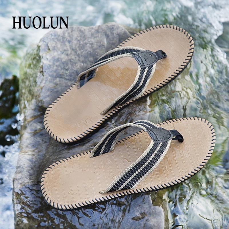 HUOLUN Flip-Flops Herr Sommar Trend Tofflor Non-Slip Beach Sandaler - Herrskor