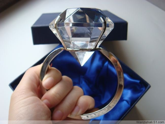Free Shipping 60mm Super Large Crystal Craft Wedding