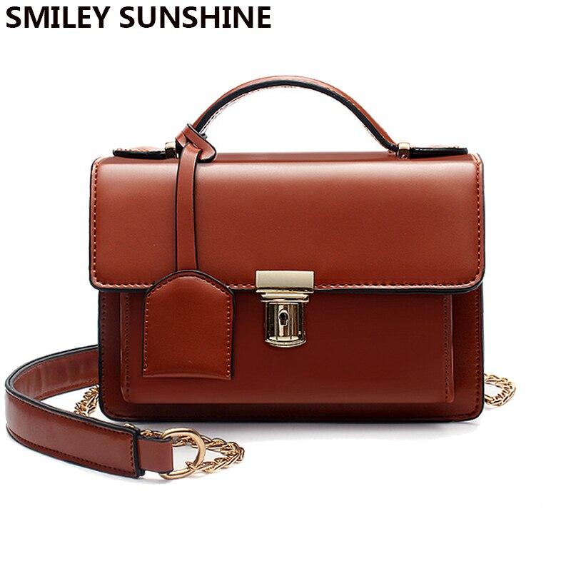 SMILEY SOLEIL marque nouvelle chaîne femmes messenger sacs vintage petit dames rabat bandoulière sacs femme mode hasp sacs à bandoulière