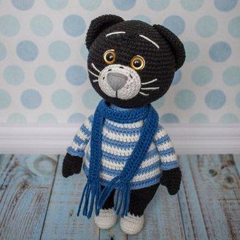 crochet toys  amigurumi  rattle  boy cat handsome