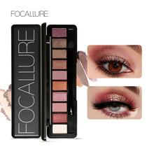 Focallure  Eye Shadow Makeup Shimmer Matte Ten Colors Eyeshadow Palette Cosmetic Makeup Nude Eye Shadow ucanbe brand 20 colors eyeshadow makeup palette shimmer matte radiant pigmented cosmetic eye shadow powder natural sexy eye set