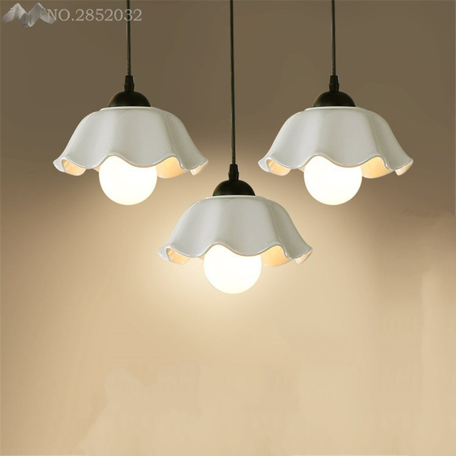 Modern Creative White Pendant Lamps Ceramic Lights For Living Room Bedroom Indoor Home Lighting Fixtures