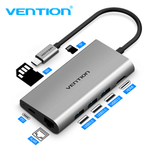 Vention Usb Hub USB Type C to HDMI USB 3.0 HUB Thunderbolt 3 Adapter For MacBook Samsung S9 Huawei Mate 20 P20 Pro USB C HUB