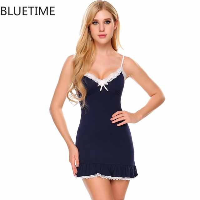 Women Nightgown Lace Sexy lady Sleepwear Chemise Cotton Homewear Clothing  Female Nightshirt Nightdress Large Size Shirts Night 66cccb923