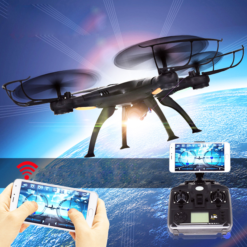 Wifi FPV X5SW RC Real-time Transmission Helicopter Aircraft Drone With Camera 2MP 2.4G RC Toys 4 CH 6 Axis Gyro Quadcopter wltoys v676 2 4ghz 4 ch outdoor r c ufo helicopter aircraft w 6 axis gyro lamp white green