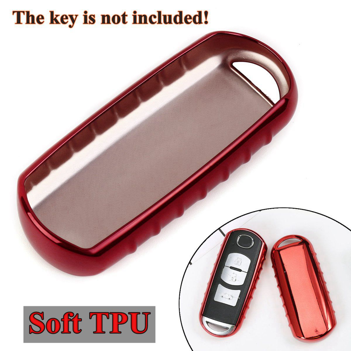 Tpu Remote Key Cover Case Fob Bag Shell For Mazda 2 3 5 6 Cx3 Cx-4 Cx-5 Cx-7 Cx-9 Mx5 2009 2010-2013 2014 2015-2017 Car Styling