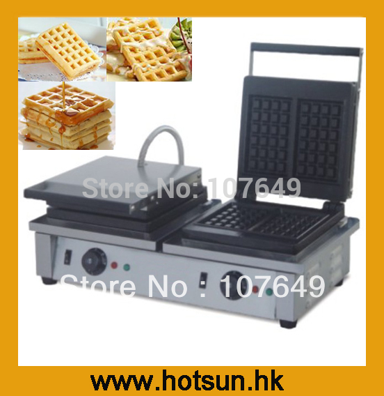 2-Heads 110V 220V Electric Belgian Liege Waffle Maker Baker Machine Iron 110v 220v electric belgian liege waffle baker maker machine iron page 2