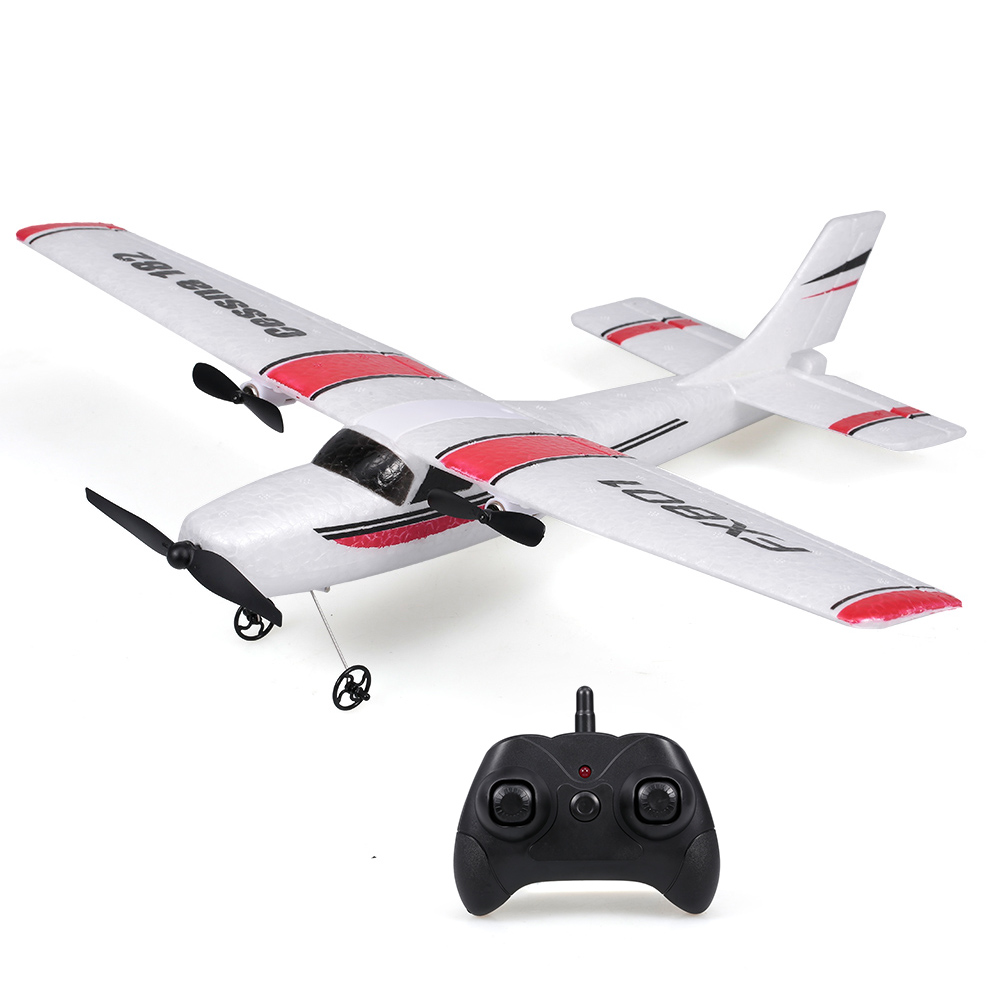 20Mins Flying Time FX801 RC Airplane Cessna 182 2.4GHz 2CH RC Aircraft Durable Outdoor Flight Toys For Beginner Kids