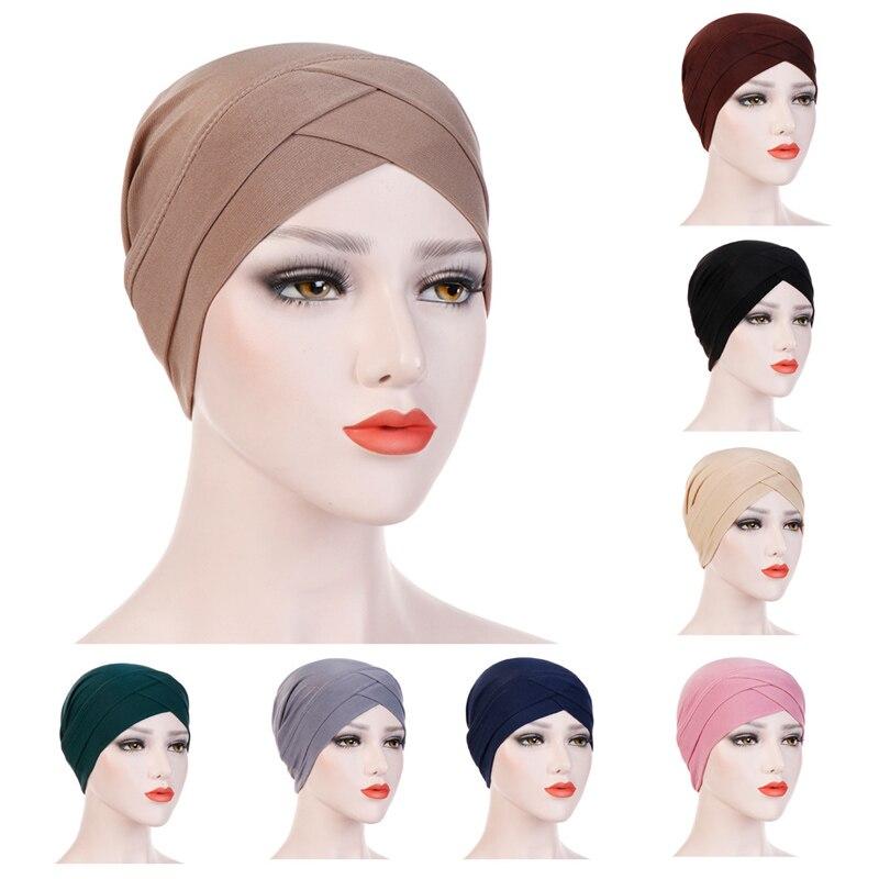 Bohemian Hijab Caps Muslim Women Scarf Sun Protection Cap Muslim Multifunctional Turban Ramadan