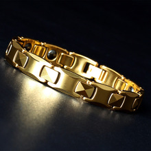 Fashion Jewelry Healing FIR Magnetic Titanium  Bracelet For Men Or Women Accessory Unisex Trendy Homme