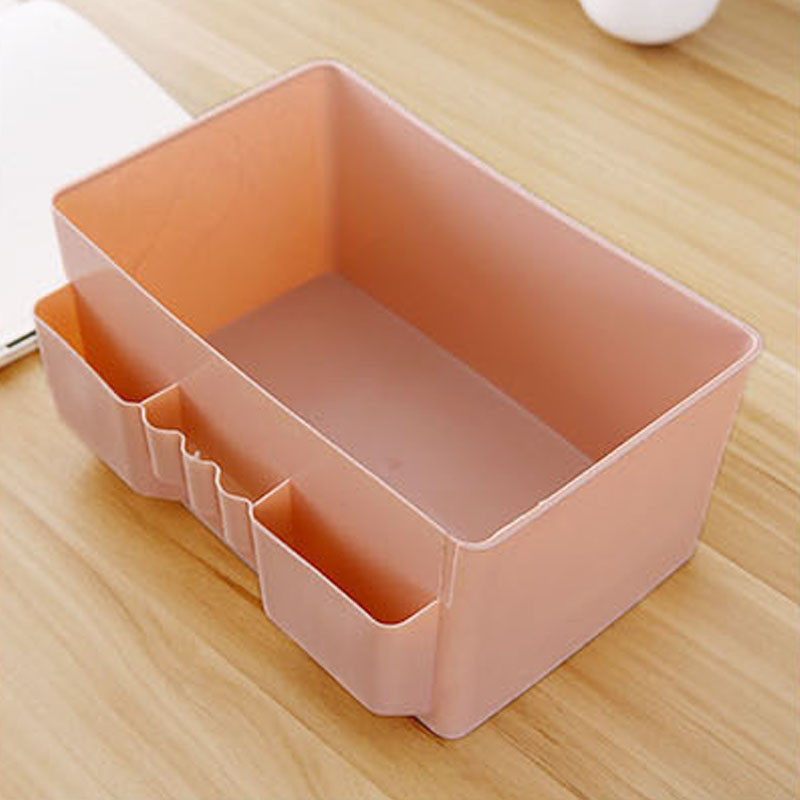 Image 2 - 1 Pcs Colorful Makeup Organizer Multi grid Plastic Cosmetic Storage Box Office Desktop Debris Finishing Organizador Box-in Storage Boxes & Bins from Home & Garden