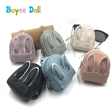 PU Cute Miniature Rabbit Backpack Bag for 12, 16inch Licca Doll, 29cm Doll 1/4 1/3 BJD Dolls Girls Pretend Play Toy Accessories 1pair 2pcs 3 5cm fashion plastic doll shoescsuit for blythe licca jb bjd dolls accessory toy parts