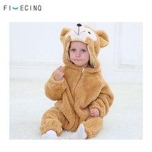Baby Bear Costume Kigurumis Animal Cosplay Cute Onesie Winter Warm Suit Child Boy Girl Flannel Fancy Halloween Festival Outfit
