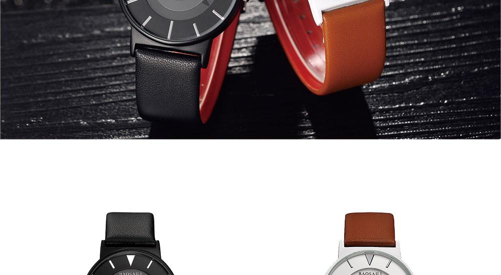 bsl1022 baosaili бренд уникальный дизайн часов черный япония движение кварцевые часы мужские простые руки часы марки