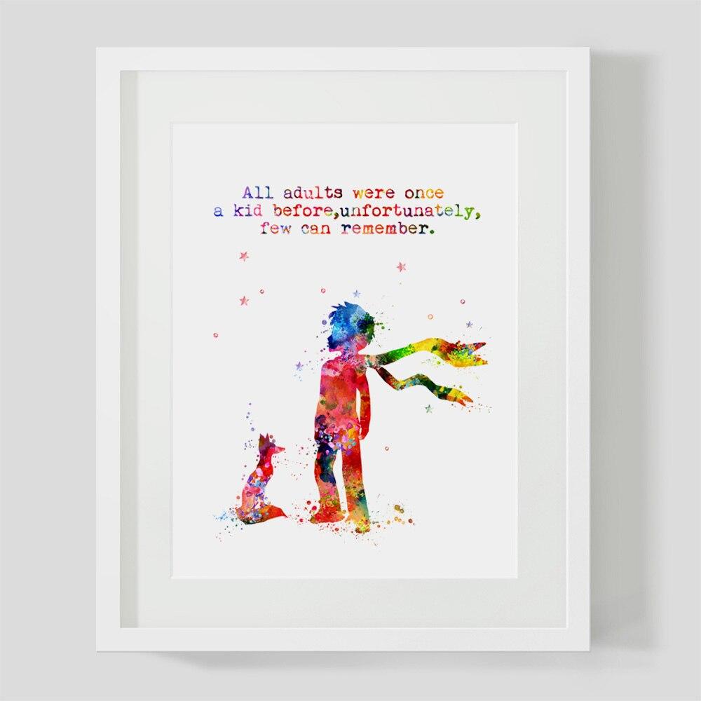 Divar İncəsənət Çapından əvvəl Bütün Yetkinlər Bir Kid - Ev dekoru - Fotoqrafiya 2
