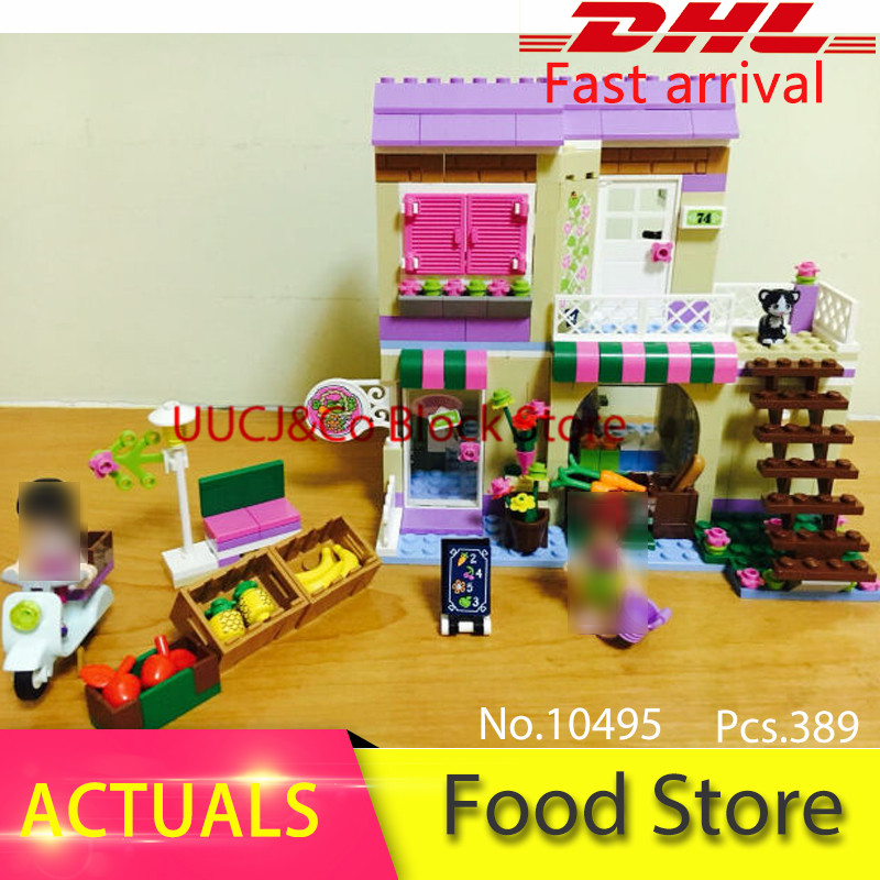 Heart Lake City food store 41108 Friend Model Building Block 10495 Toys For Children Gift Mia Maya Figures Compatible with Block bela city heartlake food market diy building blocks set mia maya figures bricks compatible with l brand toys for children gift