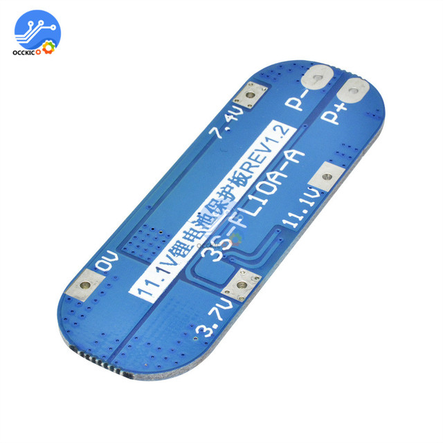 bms 3s Li-ion Lithium Battery protectiong board 18650 Charger Protection balancer PCB BMS 10A Module 12.6V equalizer board 4