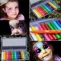 16 Lápices de Colores de Pintura de la Cara de Empalme Estructura de La Cara Crayón De Pintura Pintura Corporal de Halloween Navidad Palillo de La Pluma Para Los Niños