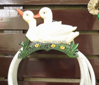 Cast Iron Water Hose Holder Metal 2 Duck Wall Mounted Hose Hanger Storage Home Garden Yard Country Rural Decor Free Shipping