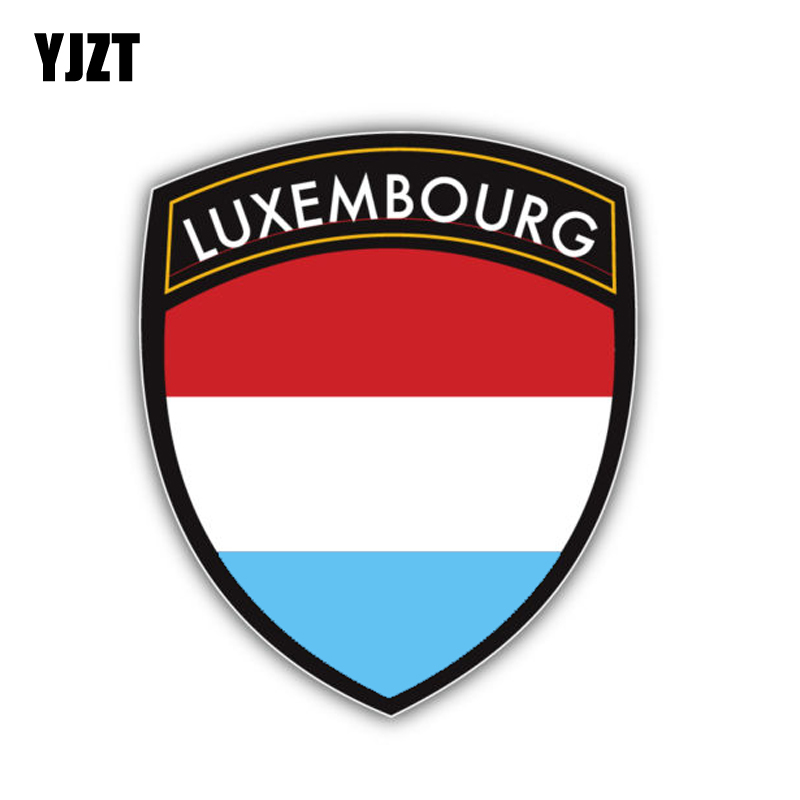 YJZT 9.4CM*11.2CM Motorcycle Decal Luxembourg Flag Car Sticker Accessories 6-1392