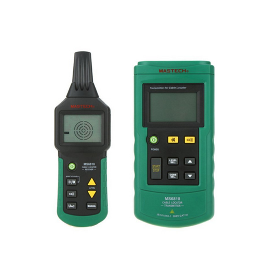 Mastech Wire Tracker Test Cable Network Cable Telephone Cable Underground Pipe MS6818 Line Test  mastech ms6818 portable instruments professional cable locator wire tracker pipelines detector tester ac dc voltage 12 400v