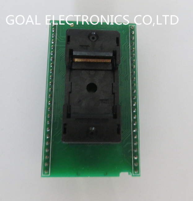 DIL48/TSOP56ZIF 18.4mm (x16) test socket adapter burn free shipping sop32 wide body test seat ots 32 1 27 16 soic32 burn block programming block adapter