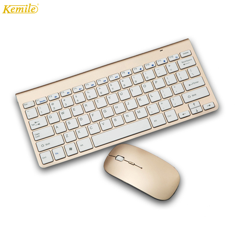 Kemile Slim 2.4ghz Wireless Keyboard and Mouse Combo USB Receiver Silent Computer Keyboard for Android Windows XP/7/8/10