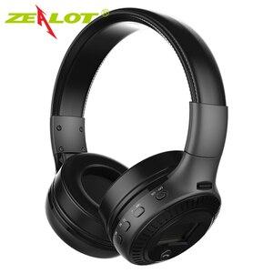 Image 2 - Gorliwy B19 słuchawki bezprzewodowe z radiem fm zestaw słuchawkowy Bluetooth słuchawki Stereo z mikrofon do komputera telefon, wsparcie TF,Aux