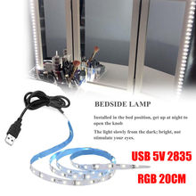 Ishowtienda 2018 USB 5V 2835 12SMD 20 Cm RGB LED Strip Light Bar TV Kembali Lampu Kit Kualitas Tinggi(China)