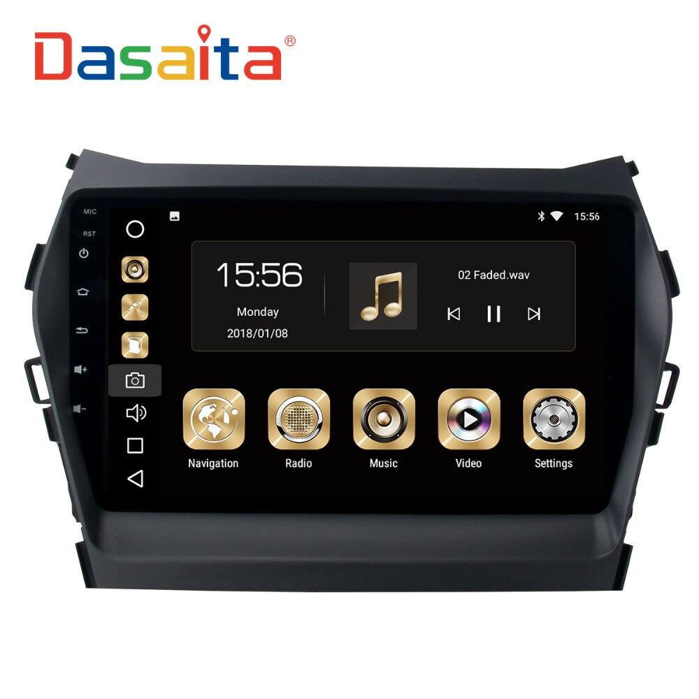 Dasaita 9 Android 8,0 автомобиль gps радио для hyundai Santa fe IX45 2013-2016 с восьмиядерным 4 ГБ + 32 ГБ авто стерео Мультимедиа