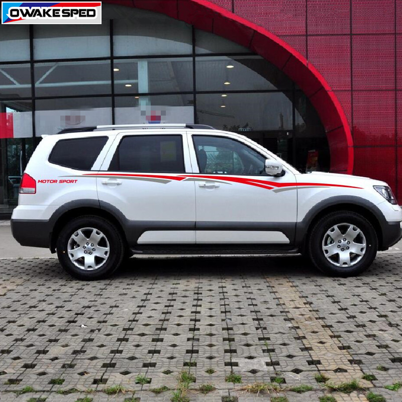 Image 4 - MOTOR SPORT Stripes For KIA SPORTAGE BORREGO Car Styling Waist Lines Sticker Auto Body Accessories Car Protection Vinyl Decal-in Car Stickers from Automobiles & Motorcycles
