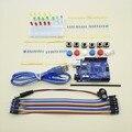 New Starter Kit UNO R3 mini botão jumper fio para arduino Breadboard LED compatile frete grátis