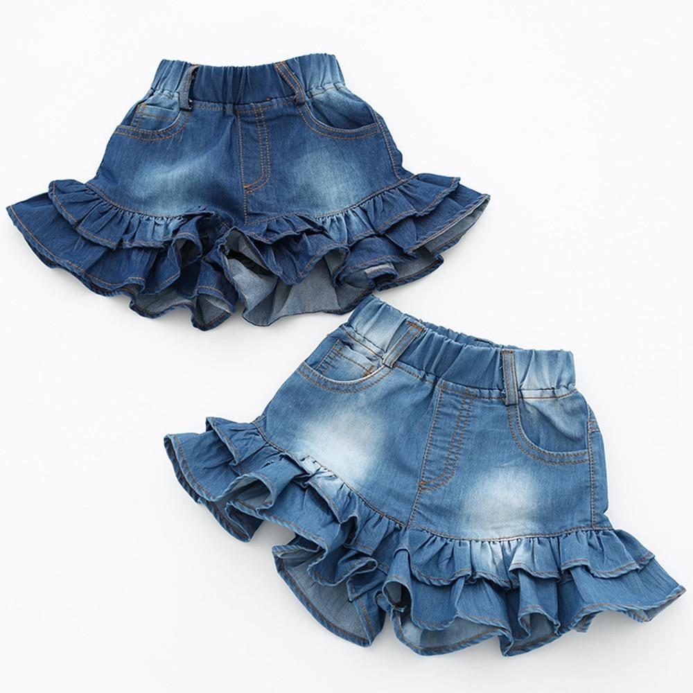 Σορτσάκι Jeans με βολάν για κορίτσια – Reparo dd136ef646e