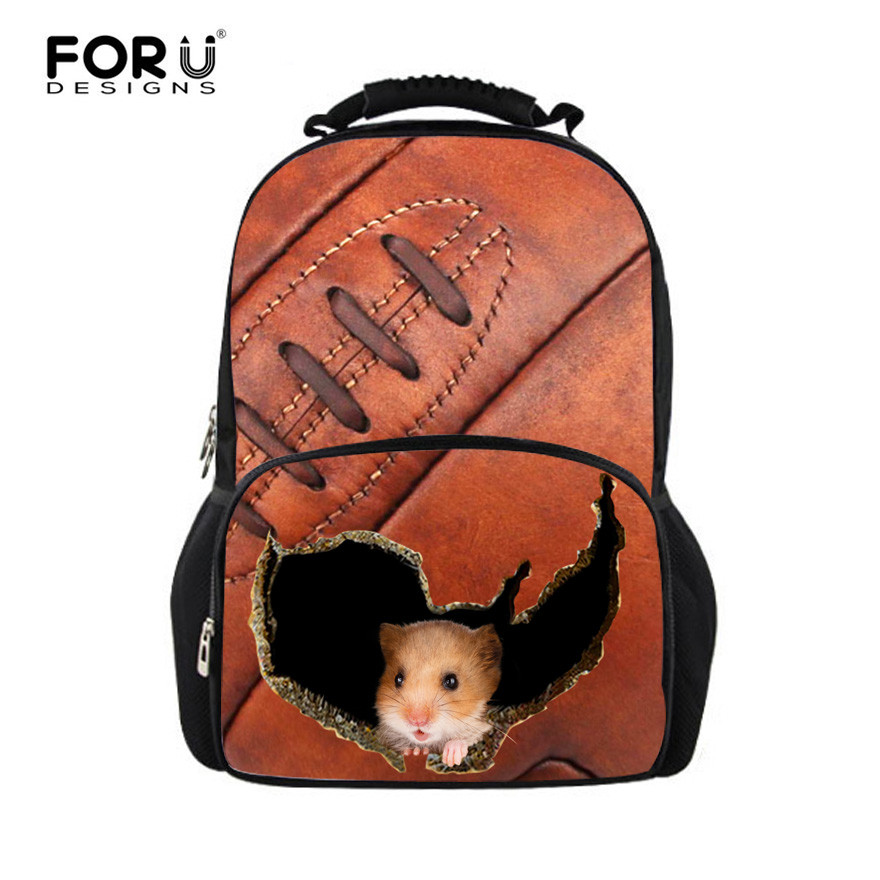 FORUDESIGNS 3D Hamster Women Backpacks School Bagpack For Teenager Girls Ladies Travel Laptop Backpack Bags Feminine backpack