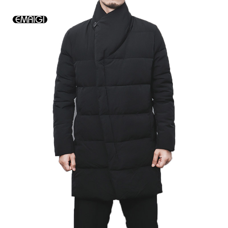 Men Winter Long Thick Cotton Padded Black Gary Jacket Plus Size M-5XL Male Fashion Casual Parkas Jacket Mens Warm Coat 2016 new long winter jacket men cotton padded jackets mens winter coat men plus size xxxl