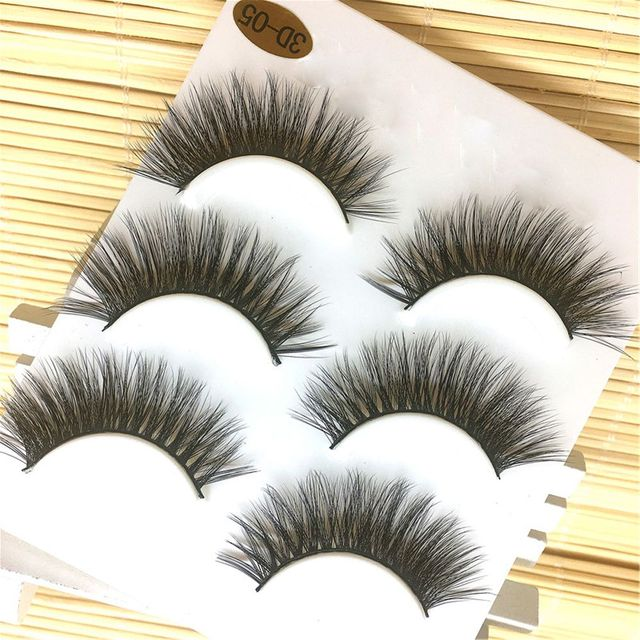 3 Pairs New Sexy Fashion 3D Handmade Long Cross False Eyelashes Natural Soft Thick Eye Lashes Extension Tools For Makeup Beauty False Eyelashes