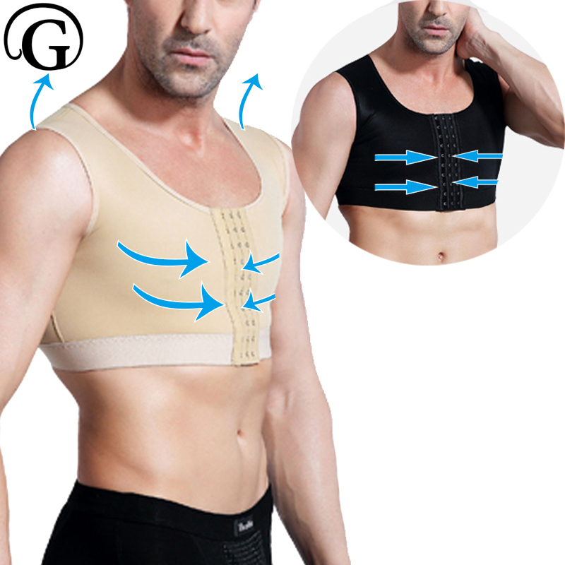 Compression Gynecomastia Shaper PRAYGER Recovery Body Shaper Men Medical Slimming Body Tops Sleeveless Hook Control Chest