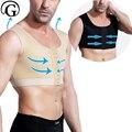 Компрессионный шейпер для ГИНЕКОМАСТИИ прайгер для восстановления тела формирователь для мужчин медицинские топы для похудения без рукав...