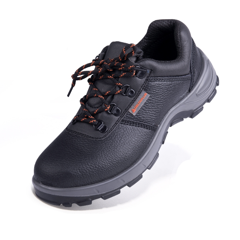 ФОТО Men's Black Steel Toe Genuine Leather Industry Chemical Electrician Safety Boots Shoes