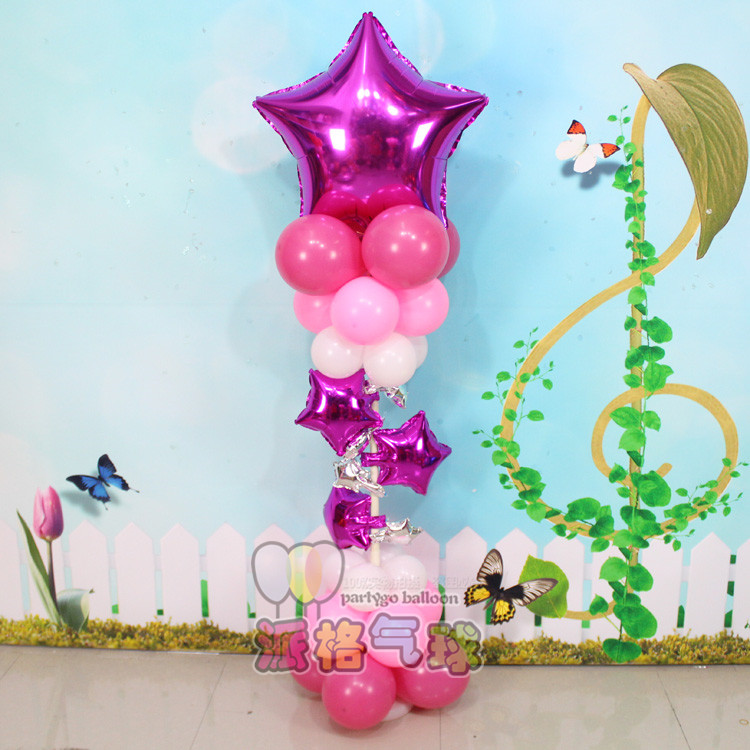 69pcs/lot minions globos latex Star mickey mouse Foil Balloons baby Birthday balloon 18inch star column upright Party Supplies