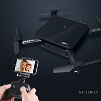 Mais novo Mini Drone SMRC S1 RC Helicóptero de Brinquedo Dobrável Selfie zangão com Câmera HD Wi-fi FPV Transmissão Em Tempo Real para Chrismas