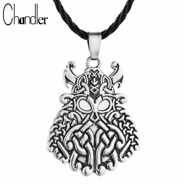 c15602c4e674 Chandler caliente estaño Dios Odin cara COLLAR COLGANTE Viking Guerrero  encanto Norse Asatru Rune joyería fe