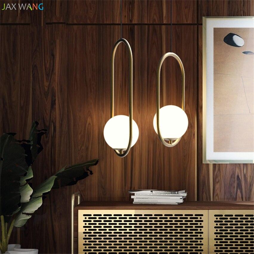Romantic Industrial Vintage Pendant Lights Dining Room Living Room Cafe Bedroom Bar American Hoop Glass Ball Lamps Decor Fixture Ceiling Lights & Fans