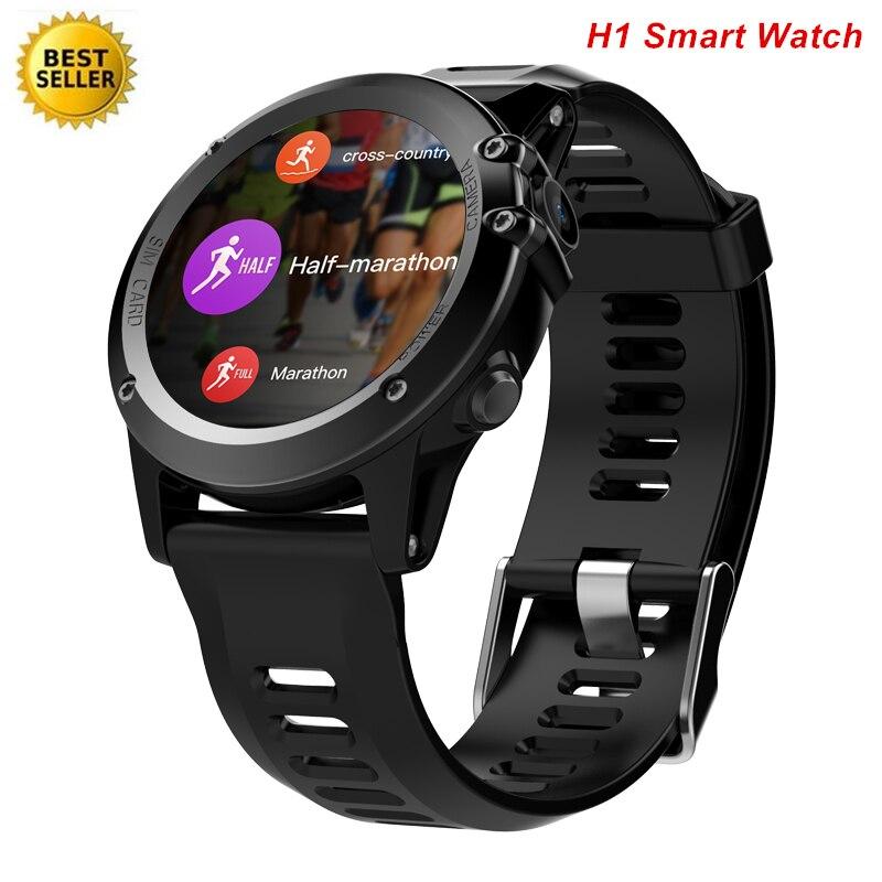 H1 Смарт часы Android 4,4 Водонепроницаемый 1,39 BT 4,0 3g Wifi GPS SIM сердечного ритма высота компас Smartwatch Для мужчин Saatler Lem9